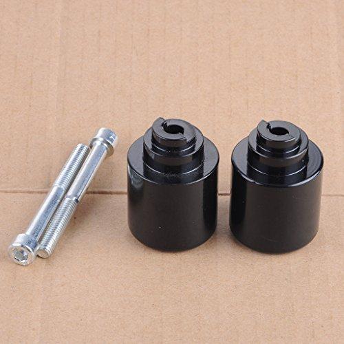 Wotefusi Black Handle Bar Ends Weight Grip Cap For Honda CBR 250 600RR 600 900RR 929RR 954RR 1000RR Goldwing GL1800 VFR800 CB919 VTR RC51 Super Blackbird CBR1100XX