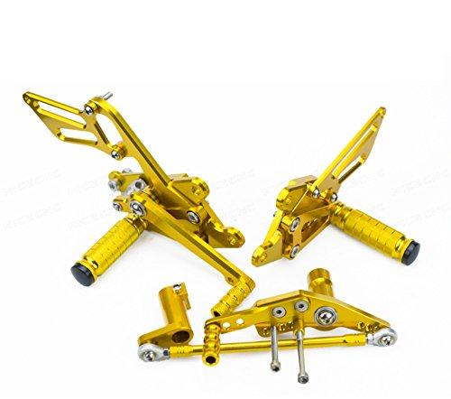 NICECNC Gold Adjustable Racing RearsetsRear Sets Footrests for Honda CBR1000RRABS Fireblade 2008 2009 2010 2011 2012 2013 2014 2015 2016