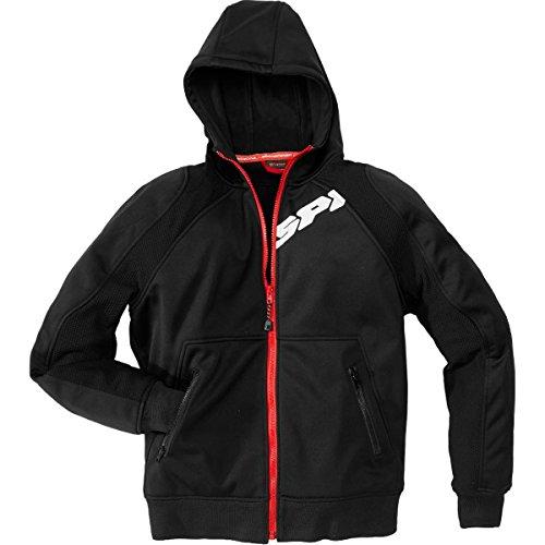 Spidi Hoodie Armor Men's Textile Street Racing Motorcycle Jacket - Black - Large