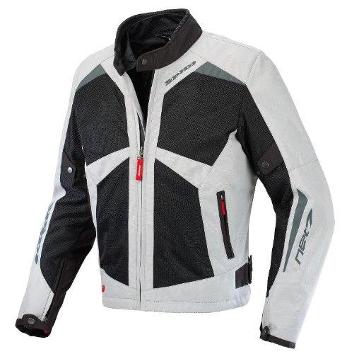Spidi Mens Net7 Motorcycle Jacket Gray/black Xxl 2xl