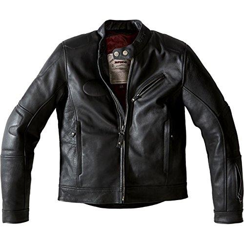 Spidi Road Runner Men's Leather Street Racing Motorcycle Jacket - Black - E50/us40