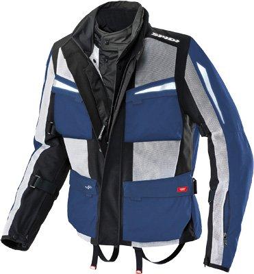 Spidi Sport S.r.l. Net Force H2out Jacket , Size: Lg, Distinct Name: Black/blue, Gender: Mens/unisex, Apparel