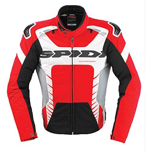 Spidi Warrior Men's Textile Street Racing Motorcycle Jacket - Red/white - X-large