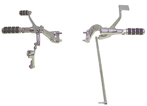V-Factor 45815-NEW Chrome FORWARD CONTROL Sportster Evolution O-Ring Ride Pegs