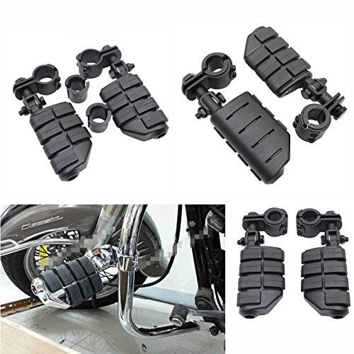 Black Heavy Duty Billet Aluminum 1-14 Highway Foot Pegs Footrest Engine Guard Mounts Clamps For Harley Davidson