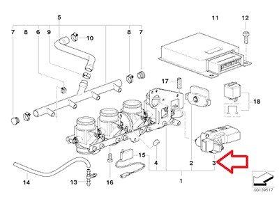 BMW Genuine Throttle Valve System Housing Control Unit Throttle actuator for R1200C R1200 Montauk R1200C Independent K1200LT K1200RS R1200CL K1200GT K1200RS