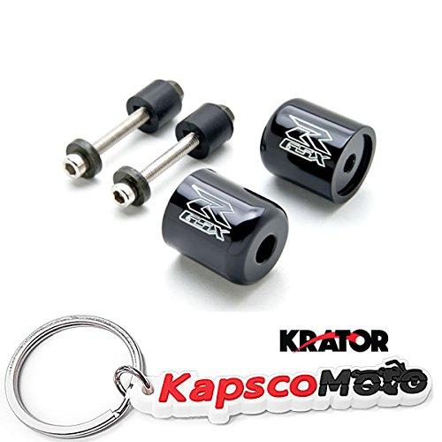 Krator Black Suzuki GSXR Engraved Bar Ends Weights Sliders - GSXR 600 750 1000 Hayabusa Bandit SV650 Katana and More 1989-2013  KapscoMoto Keychain