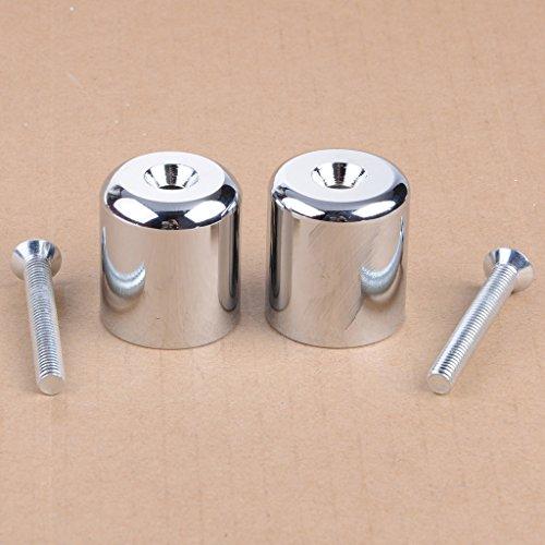 Wotefusi Silver Handle Bar Ends Grip Caps For Suzuki GSXR 600 750 1000 1100 Hayabusa GSX1300R Katana 600 750 SV650S SV1000S TL1000S Bandit 1200
