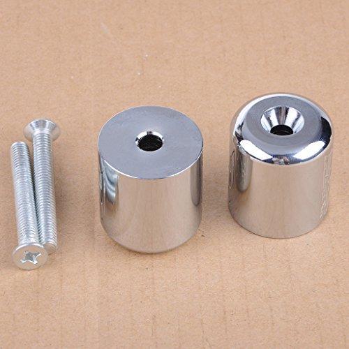 Wotefusi Silver Spike Handlebar Bar Ends Grip Caps For Suzuki GSXR600 GSXR750 GSXR1000 GSXR1100 Katana 600750 SV650S SV1000S TL1000S Bandit 1200
