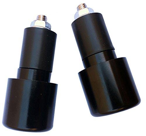 Black 78 CNC Aluminum Handlebar End Weights Caps Plugs Sliders for 2007 Suzuki SV650