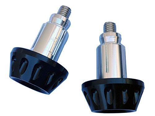 Black CNC Aluminum Handlebar End Weights Caps Plugs for 2013 Suzuki GW250