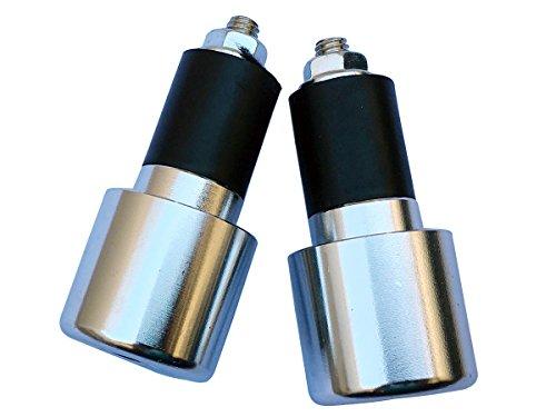 Chrome Silver 78 CNC Aluminum Handlebar End Weights Caps Plugs Sliders for 2016 Suzuki TU250X