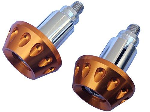 Gold CNC Aluminum Handlebar End Weights Caps Plugs for 2016 Suzuki DRZ400SM