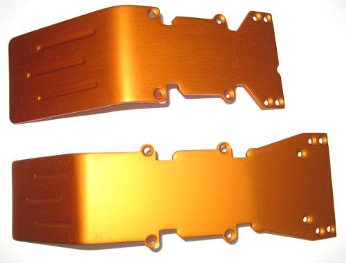 T-Maxx E-Maxx Orange Anodized Aluminum skid plate set