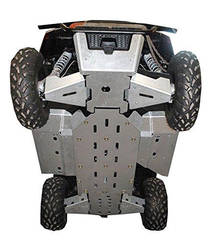 9-Piece Complete Aluminum Skid Plate Set 2015 Polaris Ranger 570 Mid-Size by Ricochet