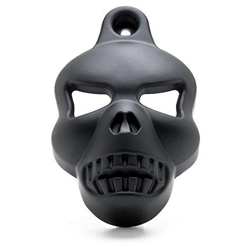 Krator Motorcycle Black Skull Horn Cover for Harley Davidson Cowbell Horns 1992-2014 Black Skull Head Horn Cover Stock Cowbell Horns