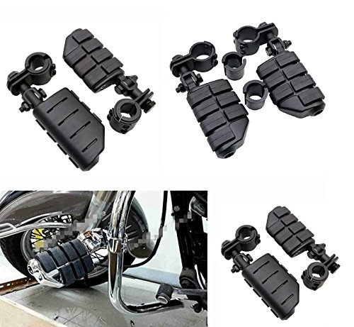 1-14 125 Highway Pegs Heavy Billet Aluminum Foot Pegs Footrest Engine Guard Mounts Clamps Black For Harley Davidson