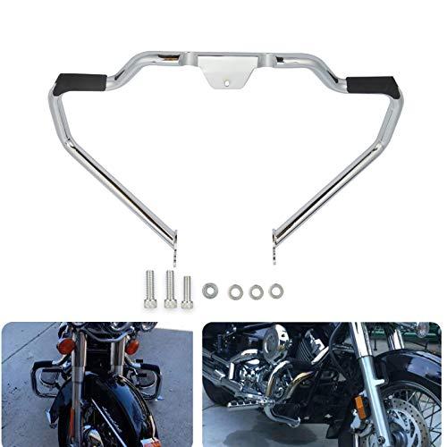 Chrome Mustache Engine Guard Highway Crash Bar Protector Frame Fit Harley Softail Model Heritage Fat Boy Breakout 2018-UP