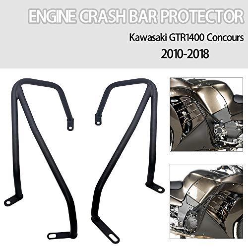 Motorcycle Crash Bars Engine Guards Bump Protector Frame Protection For Kawasaki Concours GTR1400 2010-2018 Black