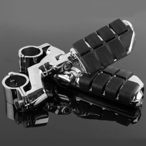 TCMT For Harley 78 1 Longhorn Highway Engine Guard Bar Offset Foot Peg Rest Clamps