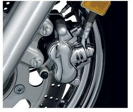 Yamaha Raider Motorcycle Front Caliper Covers Chrome Dress-up Kit
