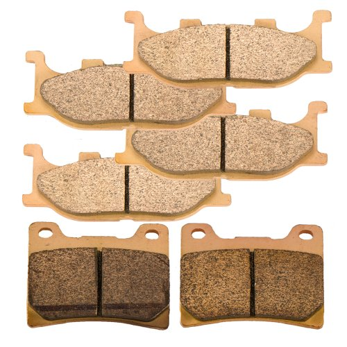 Foreverun Motor Front and Rear Sintered Brake Pads for Yamaha XVS 1100 A V-Star Classic 2001 2002 2003