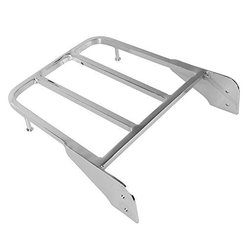 Ambienceo Chrome Sissy Bar Rear Luggage Rack for 2001-2011 Suzuki IntruderVolusia VL800 2005-2009 Boulevard M50 2005-2011 Boulevard C50