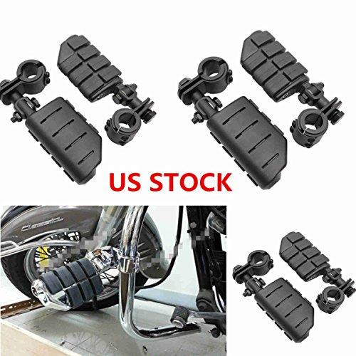 Adjustable Highway Footpeg Foot Pegs Foot Rest 1-14 Engine Guard Mounts Black For Harley Davidson Electra Road King Street Glide