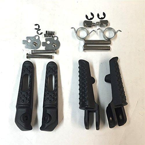 Black Front Rear Foot Peg Footrest Kit Fit For Honda CBR 1000RR 2004-2012Honda CBR 600RR 2003-2006Honda CB 1000R 2008-2012