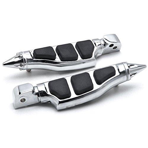 Krator Yamaha Stiletto Rear Foot Peg Foot Rests Chrome V-Star V-Max Road Star Royal Stiletto Motorcycle Foot Pegs Footrests LeftRight