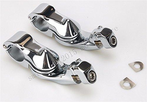 32mm Chromed Short Angled Adjustable Highway Peg Mount bracket For Harley motorcycle