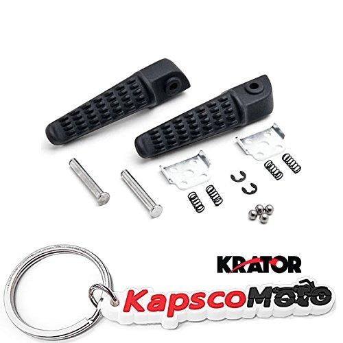 Krator Black Rear Foot Rest Pegs for Kawasaki Ninja ZX-10R ZX12R ZX-9R ZX-6R ZX636 Z750 Black Motorcycle Foot Pegs Footrests Left Right  KapscoMoto Keychain