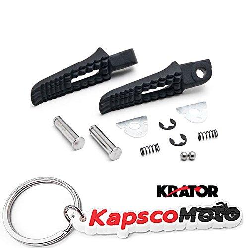 Krator Black Rear Foot Rest Pegs for Suzuki GSXR 600 750 1000 GSXS1000 GSXS750 SV650 Gladius SFV650 Black Motorcycle Foot Pegs Footrests Left Right  KapscoMoto Keychain