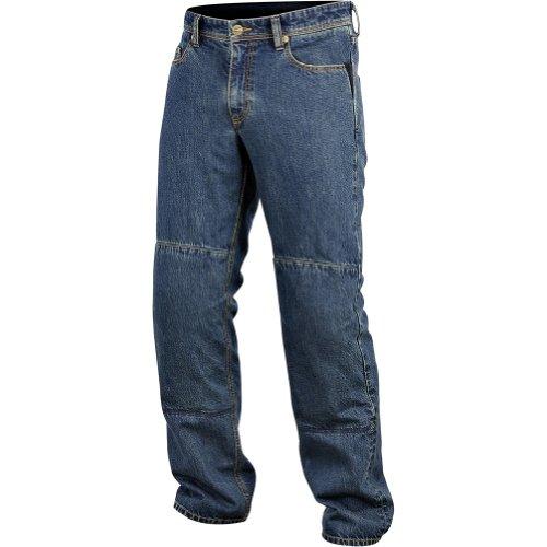 Alpinestars Ablaze Tech Men's Denim Street Racing Motorcycle Pants - Blue / Size 34