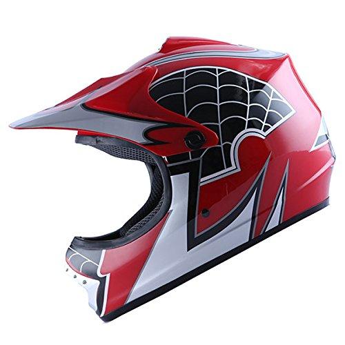 WOW Motocross BMX Youth ATV Dirt Bike Red Spider MX HelmetL 54-55 CM213217 Inch