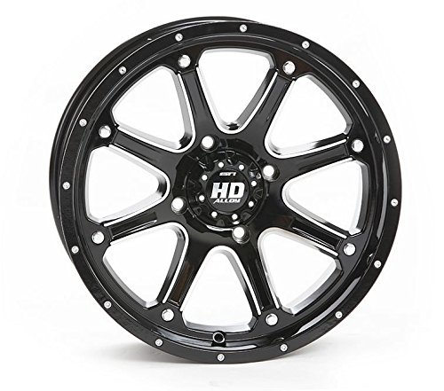 STI HD4 Gloss Black ATV Wheel 12x7 4110 - 25 12HD401