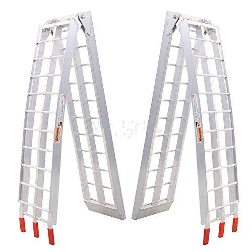 2PC 75Ft Loading Ramp 1500Lbs Heavy Duty Aluminum Motorcycle ATV UTV Truck Trailer Lawnmower Folding Ramps 750LbsPer Ladder