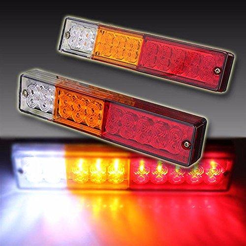 Eaglerich 12V 20 LED ATV Trailer Truck Tail Light Lamp Yacht Car-Trailer Taillight Reversing Running Brake Turn Lights Waterproof