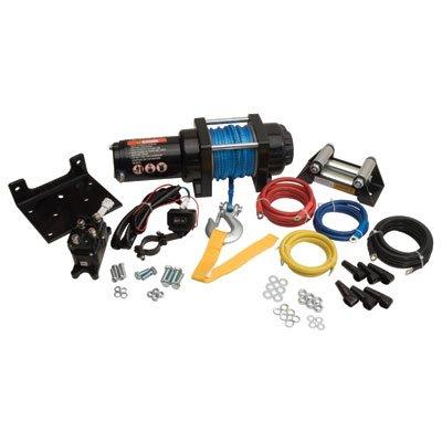 Tusk 3500 lb Winch With Mounting Plate Kit - Honda TRX 400 450 Foreman 95-04
