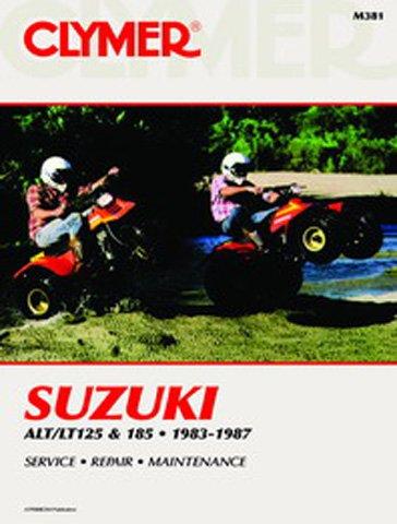 Clymer Repair Manual for Suzuki ATV ALTLT 125 185 83-87