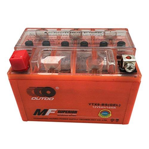 TDPRO 12V Gel Battery YTX9-BS for 2003 2010 Suzuki ATV LTZ 400 LTZ400 Honda TRX125 FourTrax TRX300X EX Kawasaki KSF400-A