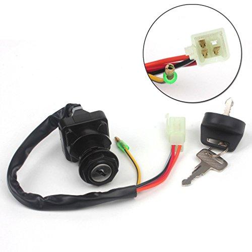 Wingsmoto Ignition Key Switch for Suzuki ATV LTF250 Quad Runner 1988-1998 LT80 LT-80S LT80S LT 80 S 1987-2006