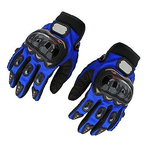 POR-BIKE Brand New Motorcycle Motocross Riding ATV Racing Cycling Bike Full Finger Gloves -Blue M by POR-BIKE