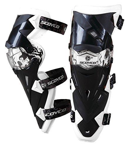 SCOYCO K12 Knee Guard Motorcycle ATV Racing Motocross Pads Protective ArmorWhite
