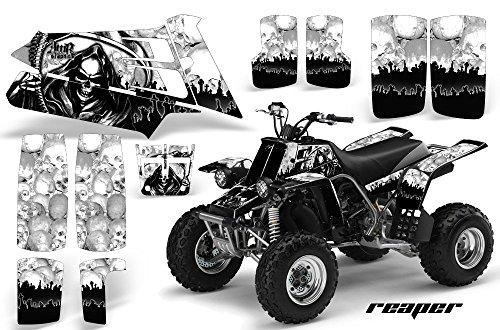 1987-2005 Yamaha Banshee YFZ350 AMRRACING ATV Graphics Decal Kit-Reaper-White