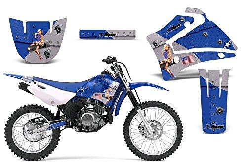 2000-2007 Yamaha TTR 125 AMRRACING ATV Graphics Decal Kit-T-Bomber-Blue