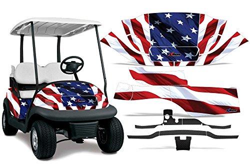 2008-2013 Club Car Precedent L2 AMRRACING ATV Graphics Decal Kit-Stars and Stripes