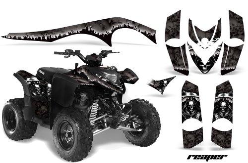AMRRACING Polaris Phoenix 200 2005-2012 Full Custom ATV Graphics Decal Kit - Reaper Black