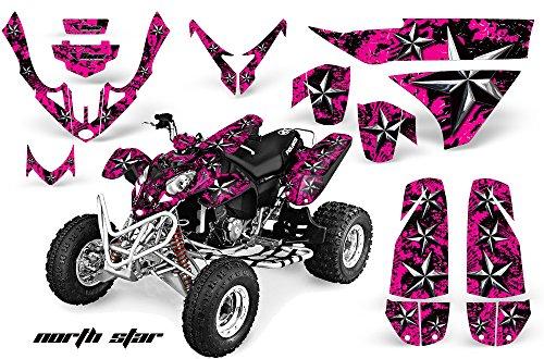 AMRRACING Polaris Predator 500 2003-2007 Full Custom ATV Graphics Decal Kit - Northstar Chrome Pink