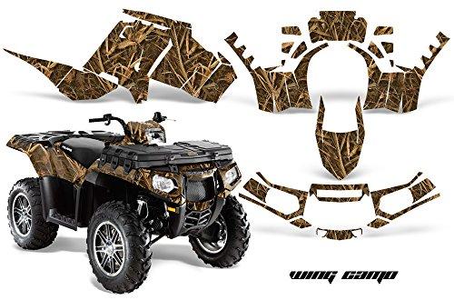 AMRRACING Polaris Sportsman 850 2013-2016 Full Custom ATV Graphics Decal Kit - Wing Camo